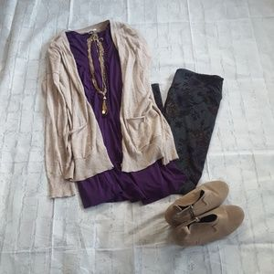 EUC purple tunic